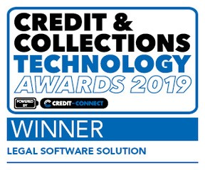 Best Legal Software Solution - Winner Credit and Collections Technology Awards 2019